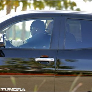 David Ortiz rolling in a 2007 Tundra